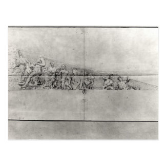 Study of the frieze from a pediment postcard