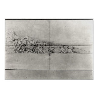 Study of the frieze from a pediment poster
