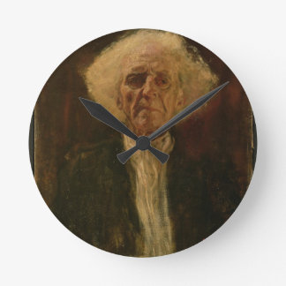 Study of the Head of a Blind Man (oil on canvas) Round Clock