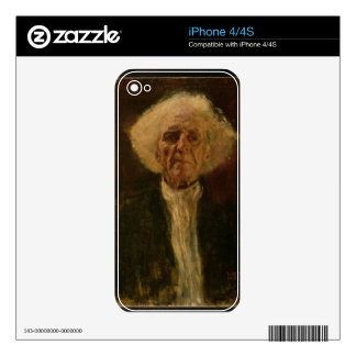 Study of the Head of a Blind Man (oil on canvas) Decal For iPhone 4