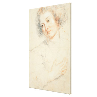Study of the Head of St. Apollonia (drawing) Canvas Print