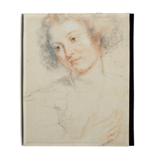 Study of the Head of St. Apollonia (drawing) iPad Folio Case