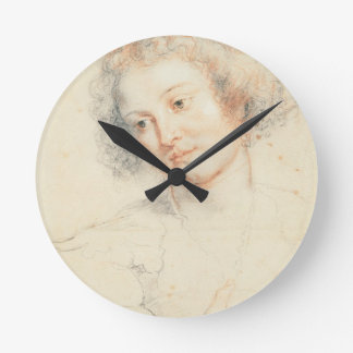 Study of the Head of St. Apollonia (drawing) Round Clock