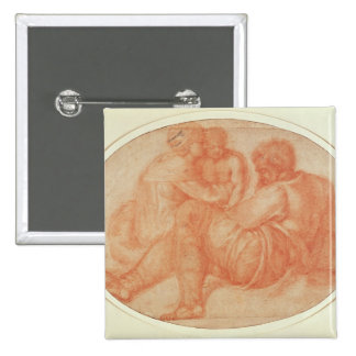 Study of the Holy Family Button