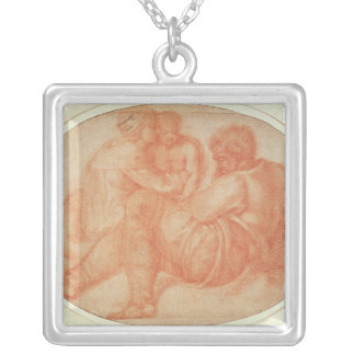 Study of the Holy Family Square Pendant Necklace