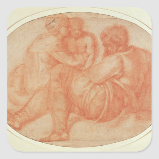 Study of the Holy Family Square Sticker