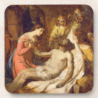 Study of the Lamentation on the Dead Christ (oil o Beverage Coaster