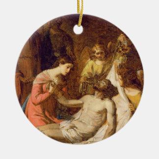 Study of the Lamentation on the Dead Christ (oil o Ceramic Ornament