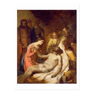 Study of the Lamentation on the Dead Christ (oil o Postcard