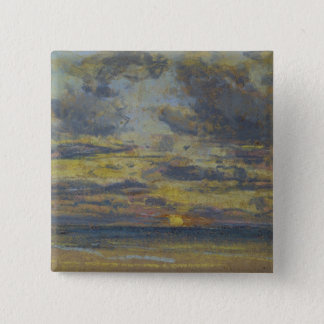 Study of the Sky with Setting Sun, c.1862-70 Pinback Button
