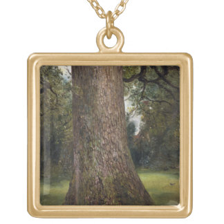 Study of the Trunk of an Elm Tree, c.1821 (oil on Custom Necklace