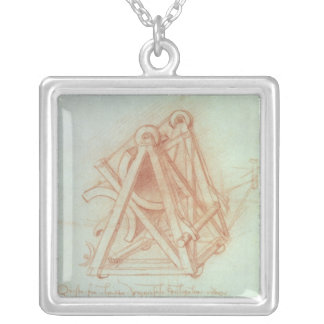 Study of the Wooden Framework with Casting Silver Plated Necklace