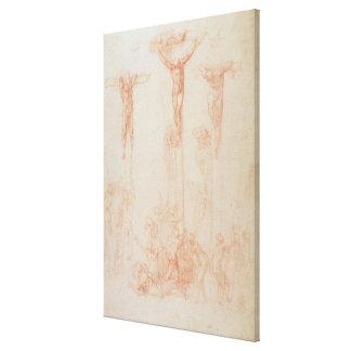 Study of Three Crosses Canvas Print