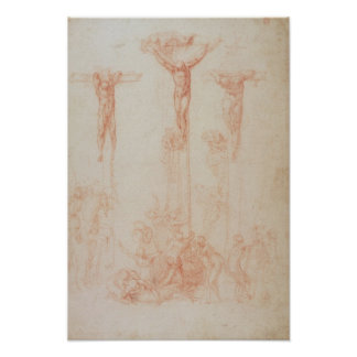Study of Three Crosses Poster