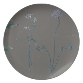 Study of Three Flowers Melamine Plate