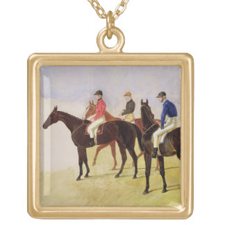 Study of Three Steeplechase Cracks: Allen McDonoug Gold Plated Necklace