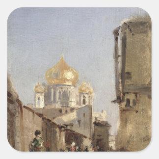 Study of Tobolsk 1842 Square Stickers