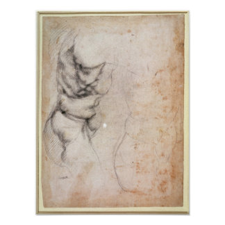 Study of torso and buttock print