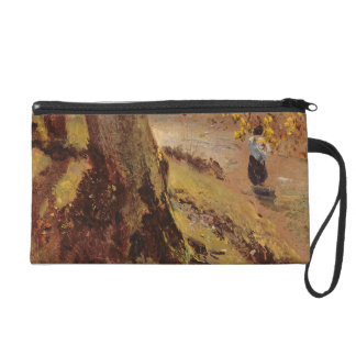 Study of tree trunks wristlet clutches
