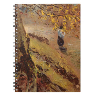 Study of tree trunks spiral note book
