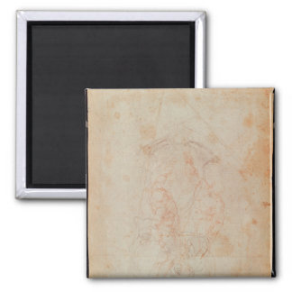 Study of two male figures 2 inch square magnet