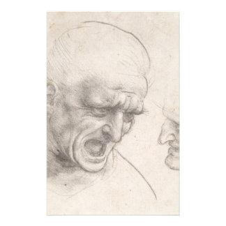 Study of Two Warriors Heads by Leonardo da Vinci Flyer