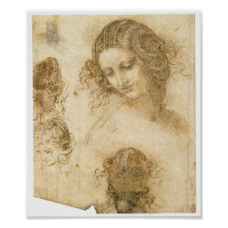 Study of Woman for Lost painting Leda, da Vinci Posters