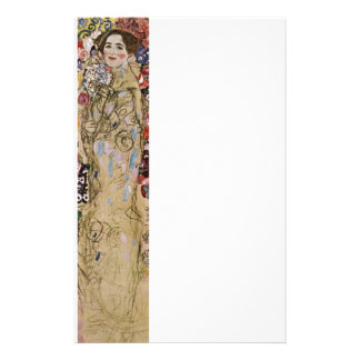 Study of Woman in Flowers Stationery