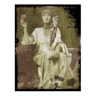 Study of Woman Postcard
