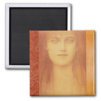 Study or a Woman 2 Inch Square Magnet