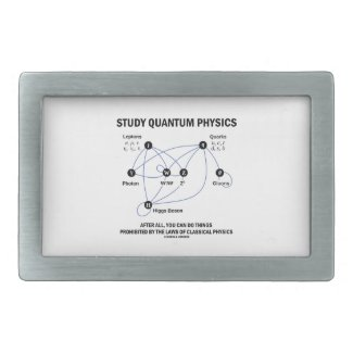 Study Quantum Physics You Can Do Things Rectangular Belt Buckle