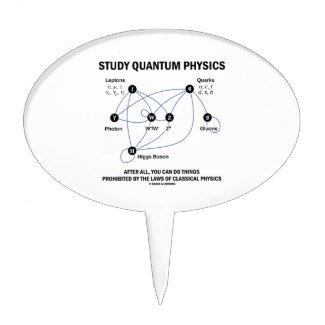 Study Quantum Physics You Can Do Things Cake Toppers