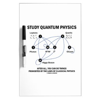 Study Quantum Physics You Can Do Things Dry-Erase Boards