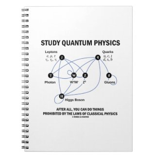 Study Quantum Physics You Can Do Things Spiral Note Books