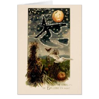 Study the Stars on Halloween Night- Card