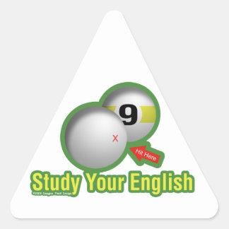 Study Your English Triangle Sticker