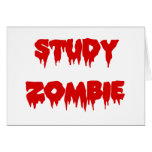 Study Zombie Stationery Note Card