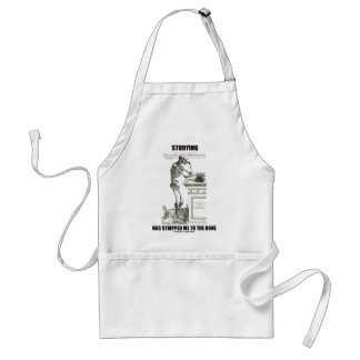 Studying Has Stripped Me To The Bone (Skeleton) Adult Apron