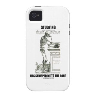 Studying Has Stripped Me To The Bone (Skeleton) Case For The iPhone 4