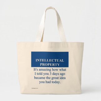 Studying Intellectual Property Law (3) Canvas Bag
