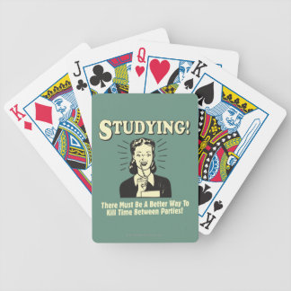 Studying: Kill Time Bicycle Playing Cards