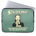 Studying: Kill Time Laptop Sleeves