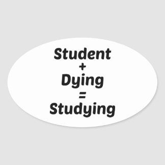 Studying Oval Sticker