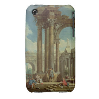 Studying Perspective among Roman Ruins iPhone 3 Cover
