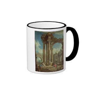 Studying Perspective among Roman Ruins Ringer Mug