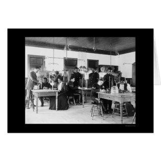 Studying Physics Hampton Institute VA 1899 Card