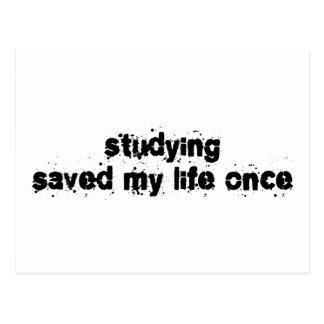 Studying Saved My Life Once Postcards