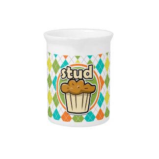 Stuf Muffin; Colorful Argyle Pattern Pitchers