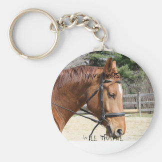 stuff 801, HAVE HORSE , WILL TRAVEL Basic Round Button Keychain