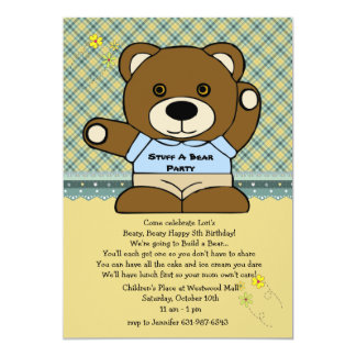 Stuff A Bear Party Card